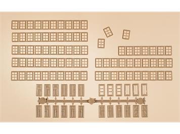 Auhagen 48650 div. Fenster, Türen usw.