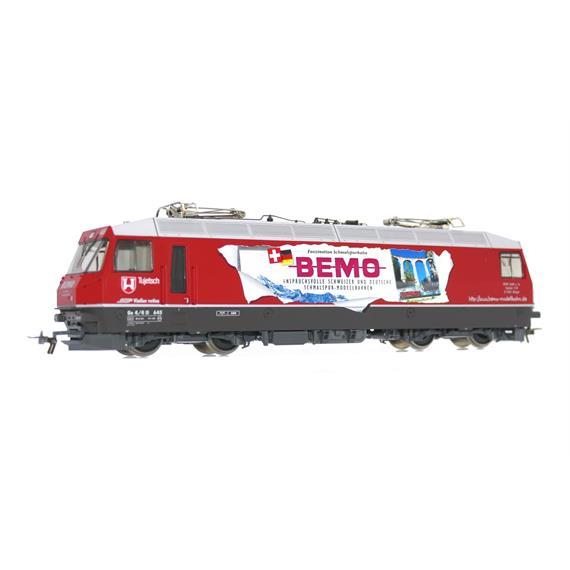 """Bemo 1259 115 RhB Ge 4/4III 645 Werbelok """"Bemo"""""""