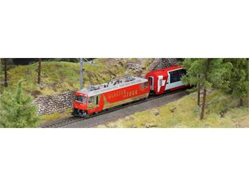 "Bemo 1459 161 RhB Ge 4/4 III 651 ""Glacier on Tour"" HO AC digital mit Sound"