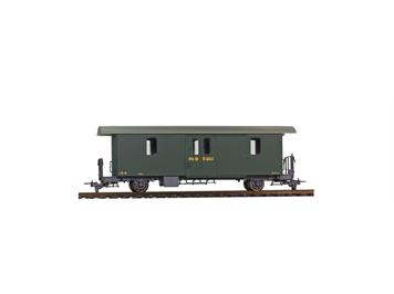 Bemo 3265 103 RhB D2 4043 Packwagen grün, H0m