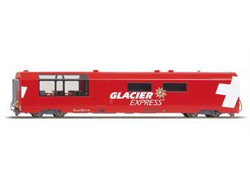 "Bemo 3689 132 RhB WRp 3832 Servicewagen ""Glacier Express"" H0 Normalspur 2L-GS/ DC"