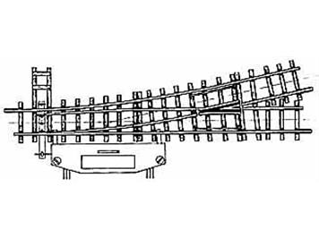 Bemo 4207 000 H0m 12° elektr. Weiche links, 162,3mm, R 515mm