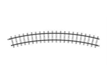 Bemo 4230 000 gebogenes Gleis H0m, R 330 mm, H0m (1:87)