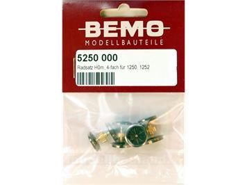 Bemo 5250 000 Radsatz mit Zahnrad für komplette Lok Ge 4/4I (= 4 Stück), H0m (1:87)