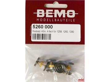 Bemo 5260 000 Radsatz komplett für 1258 / 1260 / 1280