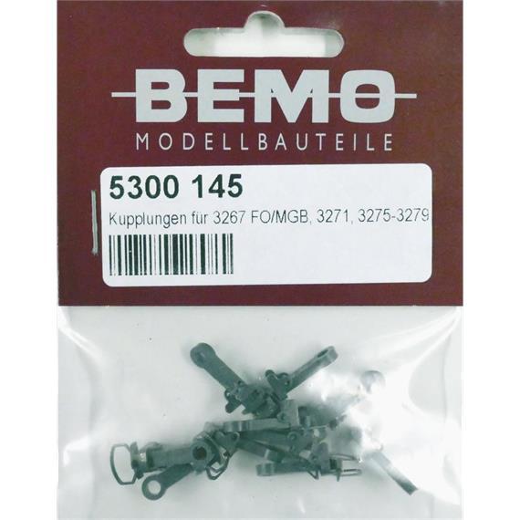 Bemo 5300 145 Kupplung für 32672xx, 3271/3275-3279, 10 Stück