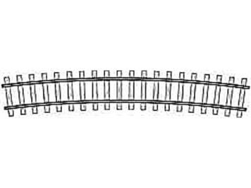 Bemo gebogenes Gleis R520, 15°, Code 70