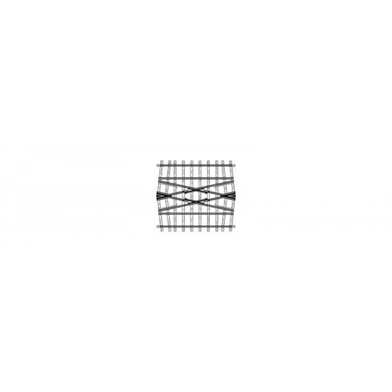 Bemo H0m 24° Kreuzung, 71mm