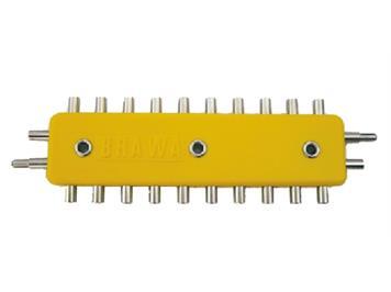 Brawa 2594 Verteilerplatte 10fach 2polig für 1,6 mm-Stecker (neue Märklin-Stecker)
