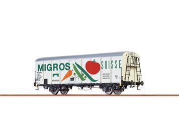 "BRAWA 37202 Spur 0 Kühlwagen UIC Standard 1 SBB/FS ""Migros"""