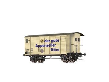 """BRAWA 47860 Gedeckter Güterwagen Gklm """"Appenzeller Käse"""" der SBB"""