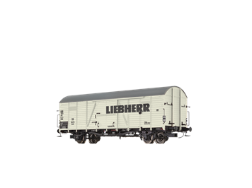 """BRAWA 48737 ged. Güterwagen Glr 22 DB """"Liebherr"""" DB HO"""