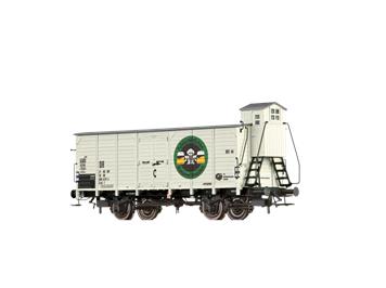 """BRAWA 67483 gedeckter Güterwagen (Tw) T """"Feldschlösschen"""" DR N"""
