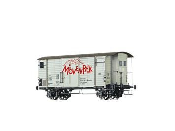 """BRAWA 67858 gedeckter Güterwagen K2 """"Mövenpick"""" SBB N"""