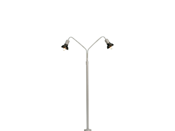 BRAWA 84055 Bogenleuchte 2fach 10 cm mit Stecksockel, H0