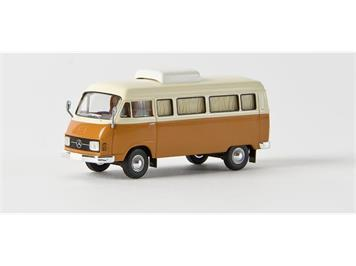 Brekina 13252 MB L206 D Camper weiss/orange HO