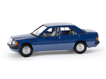Brekina MB 190 E Limousine, blau (Starmada) HO