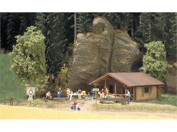 Busch 1035 Blockhütte HO