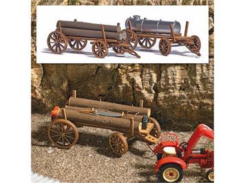 Busch 1386 2 Holzwagen H0