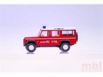 """Busch 50300.113 Land Rover Defender """"FW Luzern - Florian"""", H0 (1:87)"""