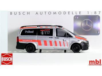 Busch 51100.146 MB Vito Kastenwagen KaPo Luzern, Sonderserie, H0 (1:87)