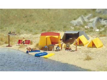 Busch 6026 Motiv-Set: Ein kleiner Campingplatz, H0 (1:87)
