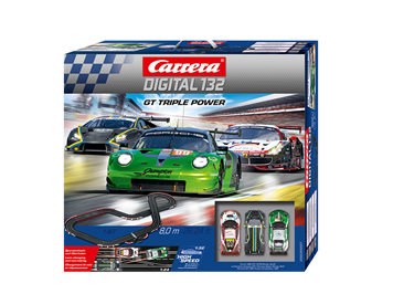 Carrera 20030007 D132 GT Triple Power 8.0 Meter