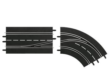Carrera 20030364 D132, D124 Spurwechselkurve rechts, innen nach außen