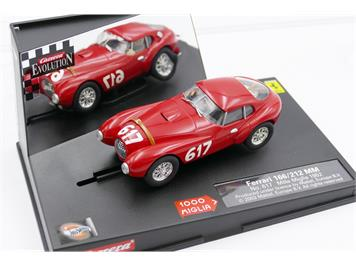 Carrera 25711 Evolution Ferrari 166/212 MM, No. 617, Mille Miglia 1952