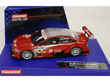 """Carrera D132 Audi A4 DTM 2008 Audi Sport Team Rosberg """"M. Rockenfeller"""""""