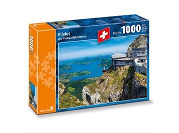 Carta.Media 7266 Puzzle Pilatus mit Vierwaldstättersee (1000 tlg.)