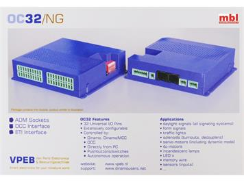 DINAMO OC32/NG-ADE FULL, multifunktionaler Decoder mit 32 definierbaren Ausgängen.