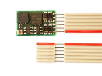 Doehler + Haass (091) DH10-1 Fahrzeugdecoder an 6pol. Flachbandkabel NEM 651 (2. Generat.)