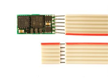 Doehler + Haass (102) DH05C-1 Fahrzeugdecoder mit 6pol. Flachbandkabel NEM651