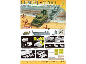 Dragon 7516 LCM(3)+M4A1 Sherman w/DeepWadingKit im Massstab 1:72