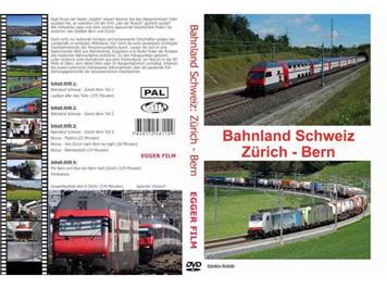 """EGGER FILM """"Bahnland Schweiz / Zürich - Bern"""" (4 DVD's)"""