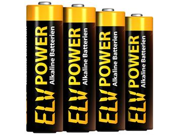 ELV Power 96151 Alkaline Batterien Micro AAA (4)