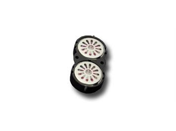 ESU 50327 Doppellautsprecher 16mm, oval, 8 Ohm mit gemeinsamer Schallkapsel