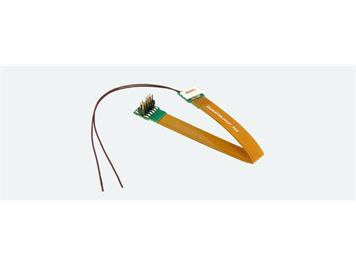 ESU 51997 Adapterplatine, 18-pol Next-18 Buchse auf PluX12, Flex, 88mm, mit Schrumpfschl.