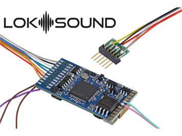 """ESU 58416 LokSound 5 DCC/MM/SX/M4 """"Leerdecoder"""", 6-pin NEM651, mit Lautsprecher 11x15mm"""