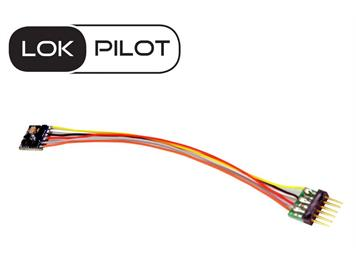 ESU 59816 LokPilot 5 micro DCC/MM/SX, 6-pin NEM651 an Litzen, Spurweite N, TT