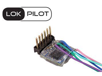 ESU 59837 LokPilot 5 micro DCC/MM/SX, 6-pin Direkt gewinkelt, Spurweite N, TT