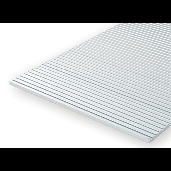 Evergreen 2037 Strukturplatte, 0,5x150x300 mm. Spur H0-Maßstab, 1 Stück
