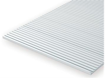 Evergreen 3025 Strukturplatte, 0,5x150x300 mm. Spur H0-Maßstab, 1 Stück