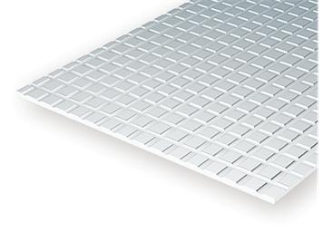 Evergreen 4516 Gehwegplatten , 1x150x300 mm.Raster 6,3x6,3 mm, 1 Stück