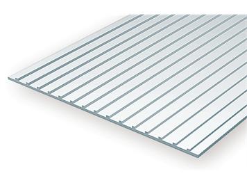 Evergreen 4524 Wellblech gefalzt, 1x150x300 mm, Raster 12,70 mm, 1 Stück