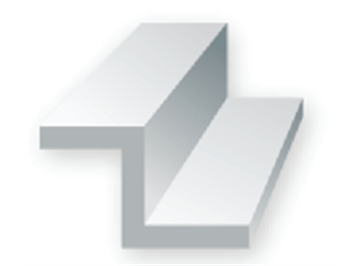 Evergreen 752 Z-Profil, 35 mm lang, Höhe 2,0mm, Dicke 0,40 mm , 4 Stück