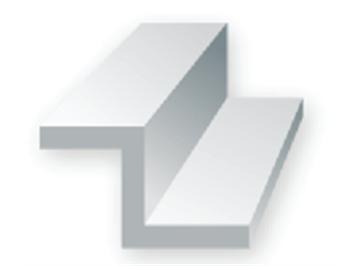Evergreen 753 Z-Profil, 35 mm lang, Höhe 2,5mm, Dicke 0,45 mm , 4 Stück