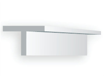Evergreen 761 T-Profil, 35 mm lang, Höhe/Breite 0,9 mm, 4 Stück