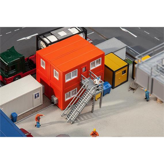 Faller 130135 Baucontainer orange (4) HO